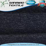 Le plus défunt filé d'indigo de modèle a teint le tissu de denim de coton de Knit de sergé