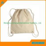 習慣によって印刷されるロゴの綿のドローストリング袋