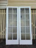 Double Français du tissu pour rideaux Doors/UPVC de la qualité UPVC