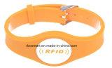 La viruta de las pulseras RFID/NFC del silicón del control de acceso marca Wristbands elegantes de la tarjeta con etiqueta de la identificación