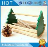 Emballage en bois peint par logo fait sur commande de support d'outils de couleur
