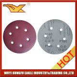 Dischi di smeriglitatura del Velcro con i fori