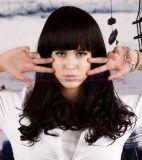 Do estilo longo de Rinka da qualidade superior peruca sintética do cabelo com estrondos retos