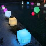 Meubles changeants de couleur des selles DEL de cube avec à télécommande