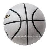 Baloncesto de cuero de plata del entrenamiento de la talla estándar del PVC