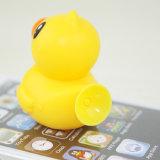 جذّابة رسم متحرّك أصفر بطّ شكل سليكوون ماص [موبيل فون] حامل