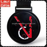 Медаль спорта хорошего качества конструкции надежного изготовленный на заказ черное