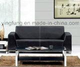 Самомоднейшая софа офиса PU кожаный с металлом (SF-6030)