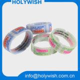 Bracelet en caoutchouc fait sur commande de silicones de bracelet de montre avec le modèle de Debossed