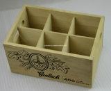 Клеть изготовленный на заказ бутылки сбор винограда 6 логоса деревянная для вина пива