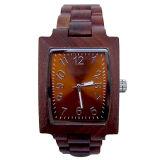 Kundenspezifische Firmenzeichen-Quadrat-Fall-hölzerne Uhr