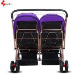 双生児のための二重シートのベビーカー