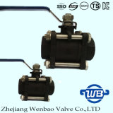 "3-PC Socket Welding SUS304 Valve à bille avec 1/2 ""1000wog"