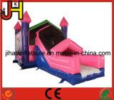 Princesa inflável combinado Casa Deslizamento do castelo do salto para a venda