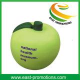 Jouet promotionnel Stressball d'Apple de forme de mousse verte d'unité centrale