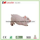 Figurine encantador do porco de Polyreisn Wildlike com sinal bem-vindo para ornamento do jardim