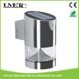 Luz accionada solar de la pared de la lámpara LED del jardín al aire libre LED de la iluminación