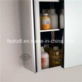 Большинств шкаф зеркала ванной комнаты мебели нержавеющей стали способа (7018)