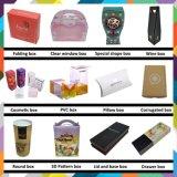 Caixa cosmética Foldable do fabricante direto da caixa para o batom com logotipo personalizado de carimbo quente do ouro