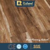 Suelo de madera laminado U-Grooved raspado mano del entarimado E1 del tablón 12.3m m del vinilo