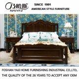 Neues modernes echtes hölzernes ledernes Bett mit festem Holz Fram für Wohnzimmer-Möbel As821b