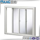 Aluminium, das doppeltes Glas außerhalb der Tür mit Verschlüssen schiebt