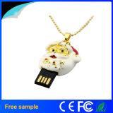 Ручка 8GB USB ожерелья ювелирных изделий подарка рождества Китая Manufacter изготовленный на заказ (JT116)