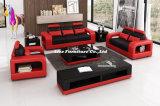 イタリアの革(LZ-1988赤)が付いている現代家具1+2+3