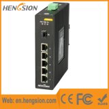 5 megabits Tx e interruptor industrial do Ethernet de um Fx de 1 gigabit