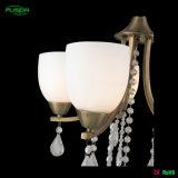 Illuminazione di vetro del lampadario a bracci di Geaceful con le gocce di cristallo