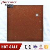 Teja de porcelana pulida de color rojo puro