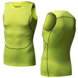 Camiseta Dt5005 de la gimnasia de la aptitud de la tapa del deporte de la camisa de la compresión de los hombres de Neleus