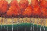 Pintura pintada a mano de la pared de la pintura al óleo de la lona del 100% para los árboles