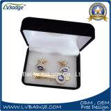 Metal de alta calidad Clip Clip Metal mancuernas en caja de terciopelo