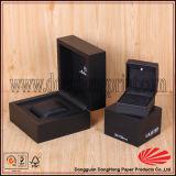 Eingehängter Kappen-Quadrat-Schwarzes Farbe lackierter MDF-hölzerner Uhr-Kasten