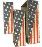 Цветочный горшок американского флага деревянный