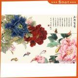 Der Pfingstrose-Tintenstrahl gedruckte chinesische Farbanstrich für Hauptdekoration