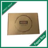 Rectángulo de papel de Brown Kraft con la venta al por mayor de la impresión de la insignia