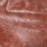 Résistance à l'abrasion PU Crazy Horse Faux Leather pour chaussures (E6087)