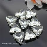 Het Plaatsen van de Klauw van de driehoek naait op Steen van het Glas van het Kristal van de Steen van het Kristal de Buitensporige (sW-Driehoek 23mm)
