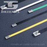 Atadura de cables revestida de autoretención del acero inoxidable del PVC