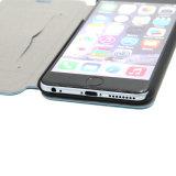 Caso di cuoio di iPhone 7 della cassa del telefono dell'unità di elaborazione del supporto della fessura per carta