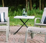 HDPE&#160 resistente; Personal 3 altezze Adjustable Table with Metal Supportare-Bianco