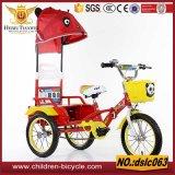 Llantas de aluminio triciclo de dos asientos para niño