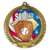 Regalo all'ingrosso della medaglia di sport di softball dello smalto