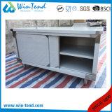 引出しおよび高さの調節可能な足を搭載するカスタマイズされたステンレス鋼の強い構築の閉鎖基礎商業食器棚