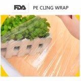 L'extension respectueuse de l'environnement de film plastique de PE s'attachent film d'enveloppe de nourriture