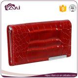 Бумажника кожи крокодиловой кожи бумажника 2017 бумажник самого последнего женщин типа красного женский короткий