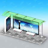 Le modèle le plus neuf d'aubette d'abri d'arrêt de bus en métal