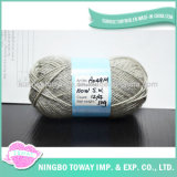 Maglione tinto qualità di Hight che tesse il filato di lana puro